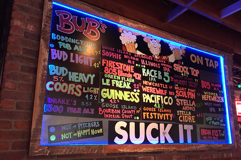Bub's Dive Bar 2 San Diego 250 Good Eats Local Mike Puckett DDM